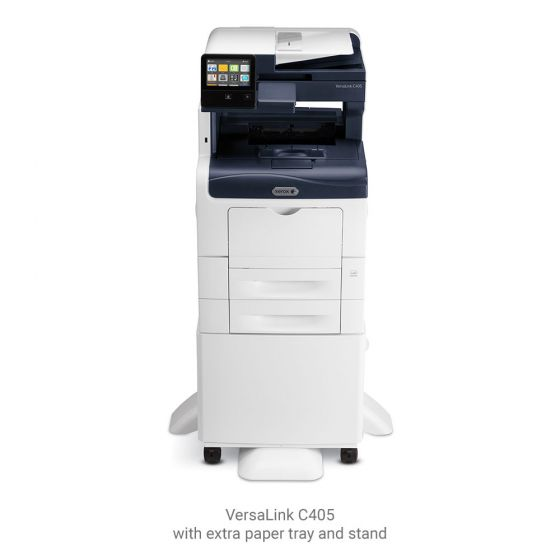 VersaLink C405 with extra paper tray and stand